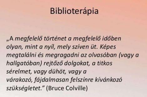 biblioterápia