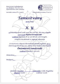Tanusitvany_Onismereti